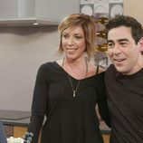 Bertín Osborne junto a Pablo Chiapella y Eva Isanta ('La que se avecina') en un programa de 'Mi casa es la tuya'