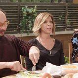 Jordi Sánchez, Eva Isanta y Vanesa Romero ('La que se avecina') comen en un programa de 'Mi casa es la tuya'