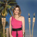 La presentadora de 'Supervivientes: El Debate', Sandra Barneda posa en las fotos promocionales del reality