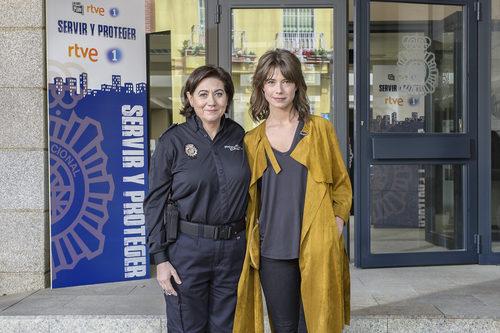 Andrea del Río y Luisa Martín en 'Servir y proteger'
