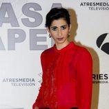 Alba Flores, en la presentación de 'La Casa de Papel'
