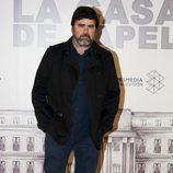 Fernando Soto en la presentación de 'La Casa de Papel'