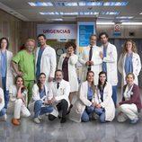 El equipo de doctores y enfermeros de 'Centro médico'