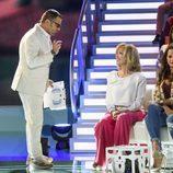 Jorge Javier Vázquez y Silvia Tortosa en la primera gala de 'Supervivientes 2017'