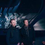 Christer Bjorkman y Ola Meltzing presentan el escenario de Eurovisión