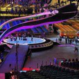 El escenario de Eurovisión 2017 listo para recibir a las delegaciones
