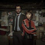 Álvaro Morte y Úrsula Corberó posan en las fotos promocionales de 'La Casa de Papel'