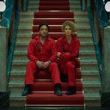 Enrique Arce y Esther Acebo en 'La Casa de Papel'