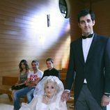 Amparo Pacheco junto a Guillermo Ortega en 'La que se avecina'