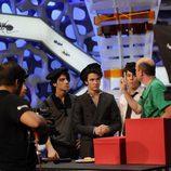 Los Jonas Brothers se ponen la boina en 'El Hormiguero'