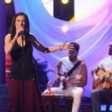 Paula Domínguez interpreta a Chambao en la séptima gala de 'Tu cara no me suena todavía'