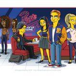 Elenco de 'Riverdale' en versión simpsonizada
