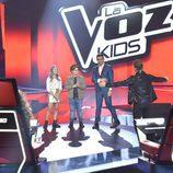David Bisbal y su equipo en la final de 'La Voz Kids'