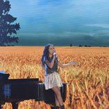 Esperanza cantando en la final de 'La Voz Kids'