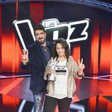 Antonio Orozco y la ganadora de 'La Voz Kids'