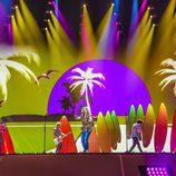 """Manel en el escenario de Eurovisión 2017 ensayando """"Do it for your lover"""""""