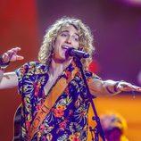 Manel Navarro cantando en primer ensayo de Eurovisión 2017