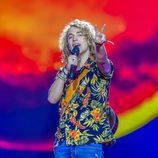 Manel Navarro al final de su primer ensayo en Eurovisión 2017
