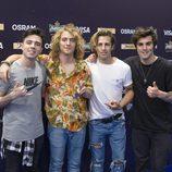 Manel y sus compañeros en Kiev