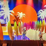 Manel Navarro canta en el segundo ensayo antes de Eurovisión 2017