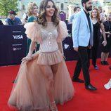 Lindita en la red carpet del Festival de Eurovisión 2017