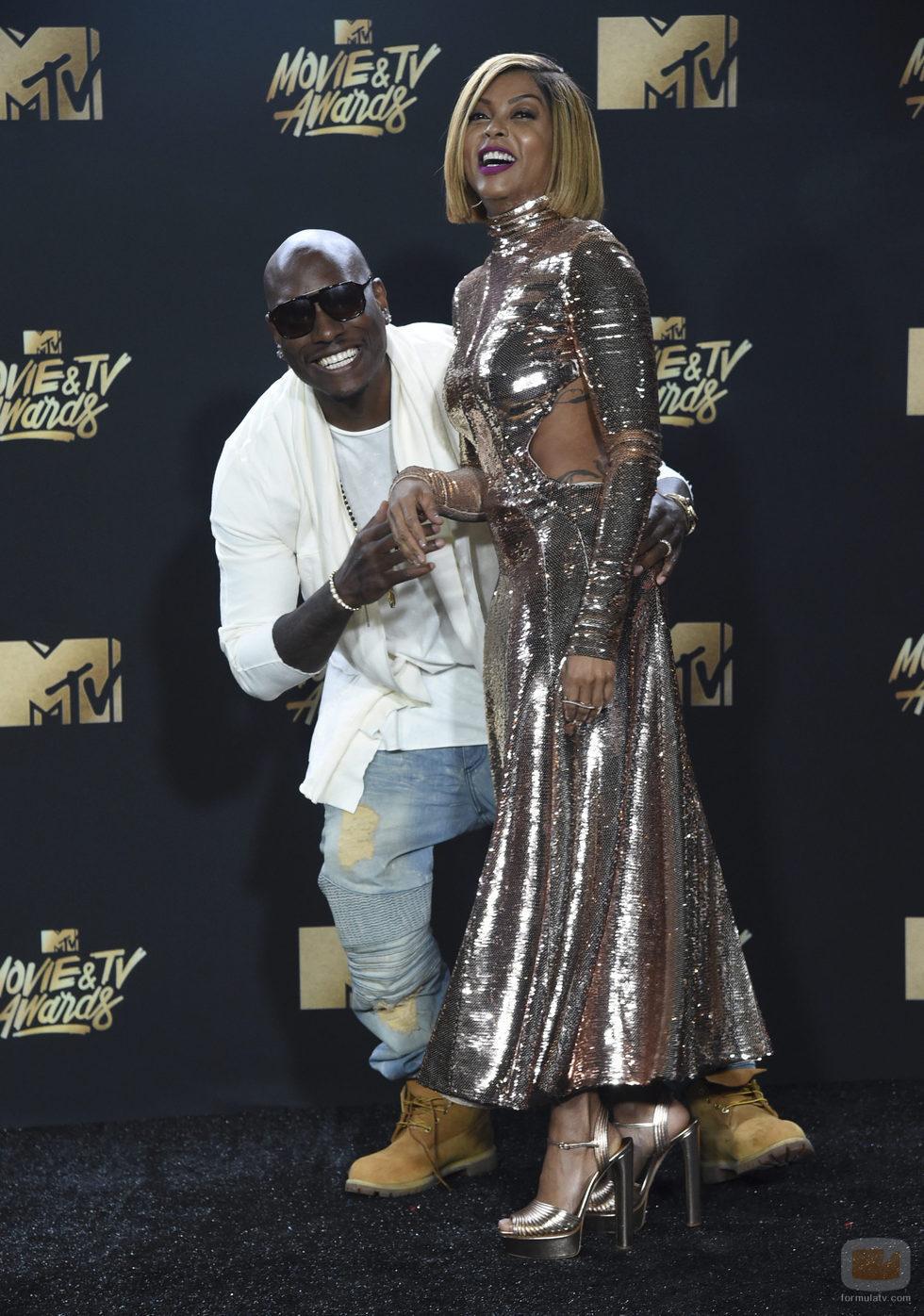 Taraji P. Henson y Tyrese Gibson, en la gala MTV Movie & TV Awards 2017