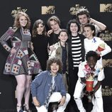 El equipo de 'Stranger Things', en la gala MTV Movie & TV Awards 2017