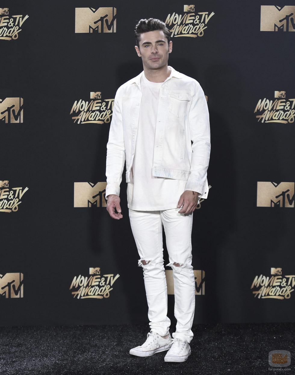 Zac Efron, en la gala MTV Movie & TV Awards 2017