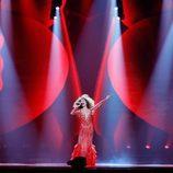 Tamara Gachechiladze (Georgia) en la Primera Semifinal de Eurovisión 2017