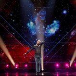 Slavko Kalezic (Montenegro) en la Primera Semifinal de Eurovisión 2017