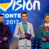 Los presentadores de la Segunda Semifinal de Eurovisión 2017