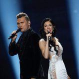 Koit Toome y Laura (Estonia) en la Segunda Semifinal de Eurovisión 2017