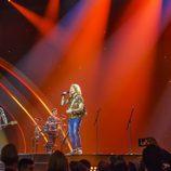 Manel Navarro y su banda en el ensayo general de Eurovisión 2017