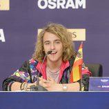 Manel Navarro en la rueda de prensa del Big Five de Eurovisión 2017