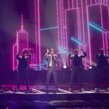 Robin Bengsston (Suecia) en la Final de Eurovisión 2017