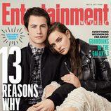 Katherine Langford y Dylan Minette de 'Por 13 razones', portada de Entertainment Weekly