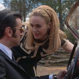 Marta Hazas y Javier Rey en el rodaje de 'Velvet Colección'