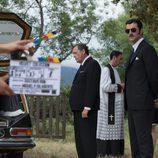 Javier Rey en el rodaje de 'Velvet Colección'