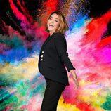 Toñi Moreno junto a una explosión de colores en 'Viva la vida'