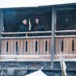 Littlefinger (Aidan Gillen) ySansa Stark (Sophie Turner) en la séptima temporada de 'Juego de Tronos'