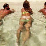 Leticia Sabater, Kiko Jiménez e Iván González, desnudos en 'Supervivientes'