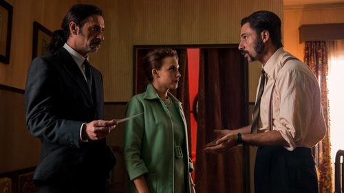 Amelia Folch (Aura Garrido), Pacino (Hugo Silva) y Alonso de Entrerríos (Nacho Fresneda) en 'El Ministerio del Tiempo'