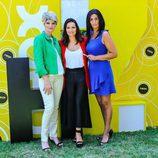 Silvia Abril, Olga Hueso y Mónica Pérez en la rueda de prensa de 'Homo Zapping'