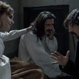 Aura Garrido, Nacho Fresneda y Hugo Silva en una de sus aventuras en 'El Ministerio del Tiempo'