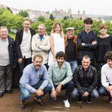 Los actores de 'Fariña' durante la rueda de prensa