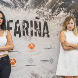 Jana Pérez y Marta Larralde en la rueda de prensa de 'Fariña'