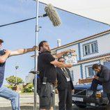 Imagen durante el rodaje de 'Fariña'