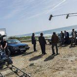 Secuencia de 'Fariña' durante el rodaje