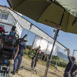 El equipo durante el rodaje de 'Fariña'
