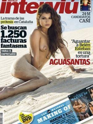 Aguasantas Vilches ('MYHYV') desnuda en la portada de la revista Interviú